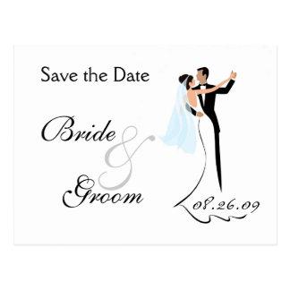 Save the Date Wedding Einladungs-Postkarte Postkarte