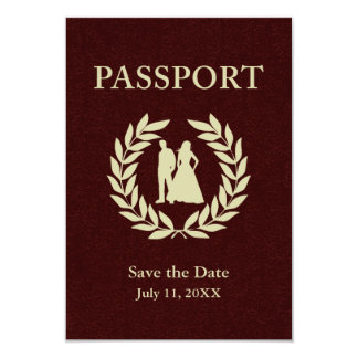 Save the Date wedding Pass 8,9 X 12,7 Cm Einladungskarte