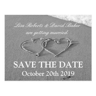 Save the Date wedding Postkarte | Strandthema