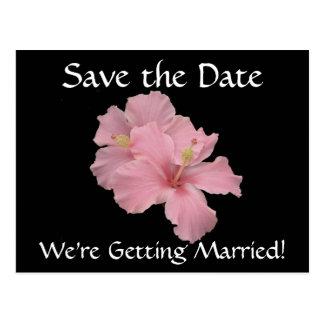 Save the Date - wir erhalten verheiratete Postkarte