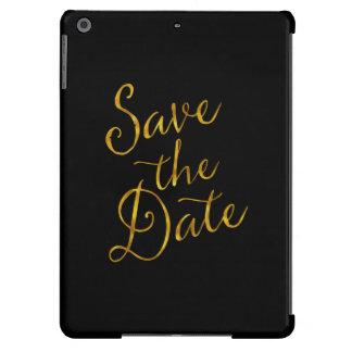 Save the Date Zitat-GoldImitat-Folien-Verlobung iPad Air Hülle