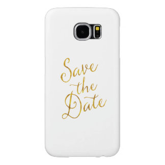 Save the Date Zitat-GoldImitat-Folien-Verlobung