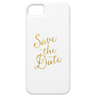 Save the Date Zitat-GoldImitat-Folien-Verlobung iPhone 5 Hüllen