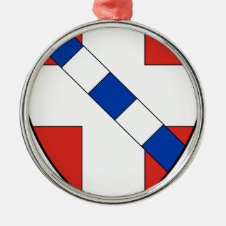 Savoie Rundes Silberfarbenes Ornament