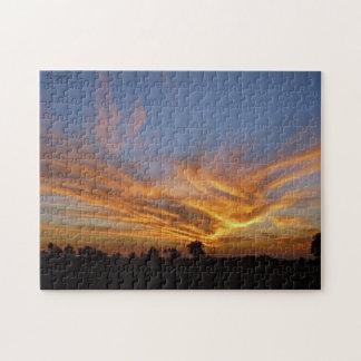 Savute Sonnenuntergang-Puzzlespiel