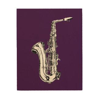 Saxophon Holzdruck