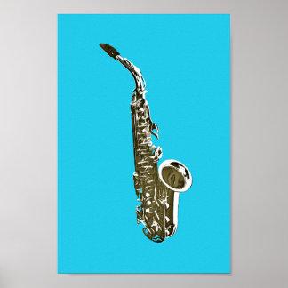 Saxophon Poster