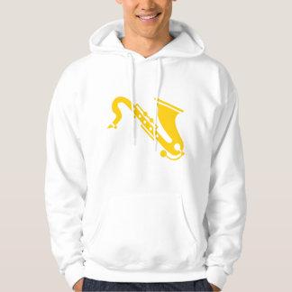 Saxophone - ambre sweat-shirts avec capuche