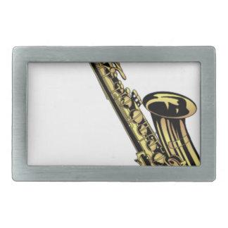 Saxophone-Zeichnen Rechteckige Gürtelschnalle