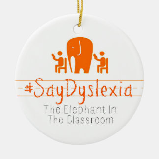 #SayDyslexia Kreis-Verzierung Keramik Ornament