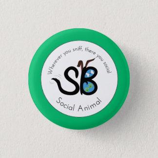 SBM Erdtagessozialtierlogo-Miniknopf-Button Runder Button 2,5 Cm