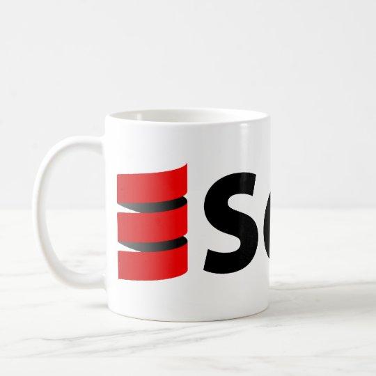 Scala Tasse oder Stein, großes Logo
