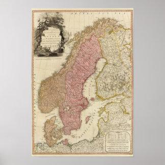 Scandia, Skandinavien Poster