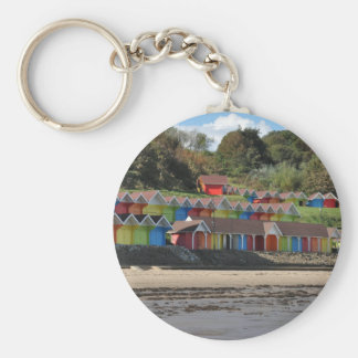 Scarborough-Strand-Hütten Schlüsselanhänger