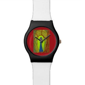 Scarlet-Blume (Dackel-Version) Uhren