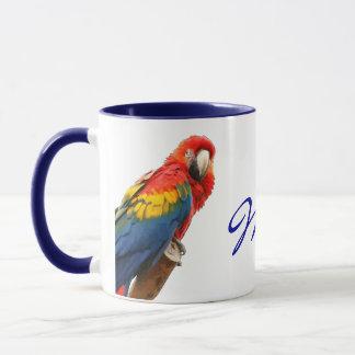 Scarletmacaw-Mexiko-Keramik-Tasse Tasse