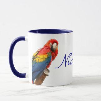 Scarletmacaw-Nicaragua-Keramik-Tasse Tasse