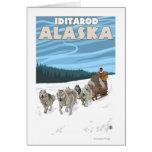 Scène Sledding de chien - Iditarod, Alaska Carte De Vœux
