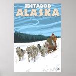 Scène Sledding de chien - Iditarod, Alaska Poster