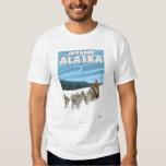 Scène Sledding de chien - Iditarod, Alaska Tee Shirt