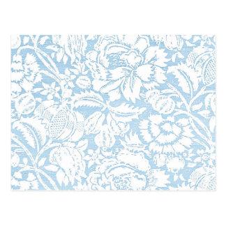 Schäbige blaue Franzosen Toile Postkarten