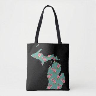 Schäbige Rosen und Punkte Michigans   fertigen es Tasche