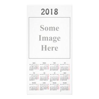 Schablone 2018 Kalender-Foto-Karte Karte