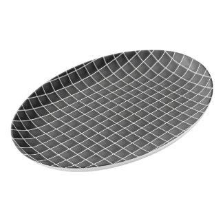 Schablone addieren den kundengerechten porzellan servierplatte