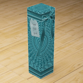 Schablone - aquamarines Kreis-Korbgeflecht-Muster Weinbox