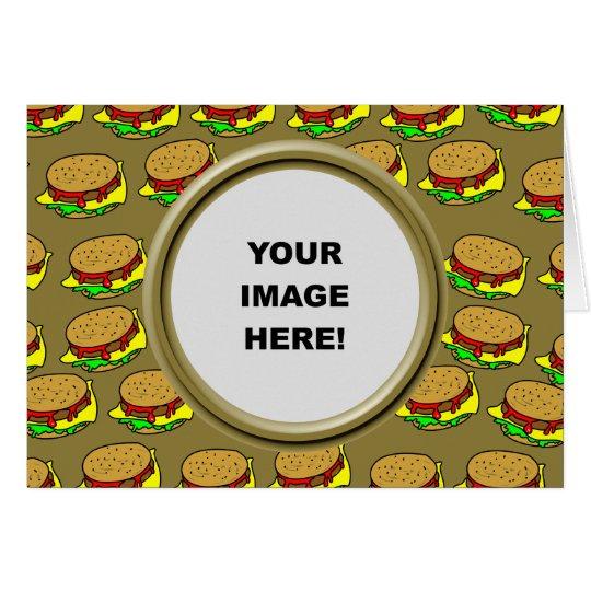 Schablone, Burger-Grenze Grußkarte