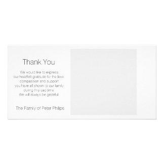 Schablonen-Beileid danken Ihnen - addieren Sie Photogrußkarten