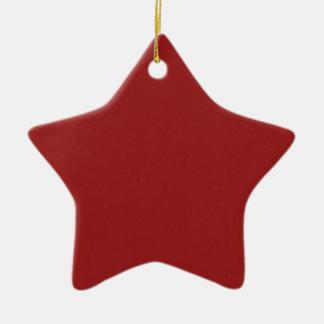 Schablonen-leerer roter Schatten addieren leicht Keramik Stern-Ornament