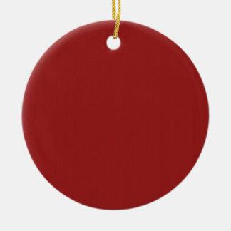 Schablonen-leerer roter Schatten addieren leicht Rundes Keramik Ornament