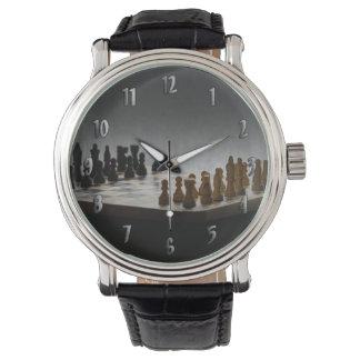Schach Armbanduhr