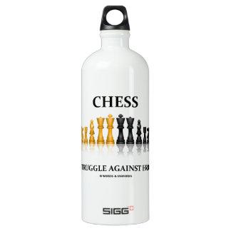 Schach ein Kampf gegen Fehler-reflektierendes Wasserflaschen