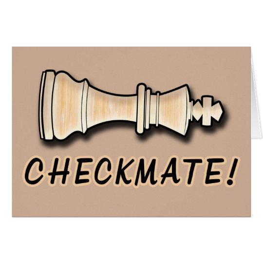 Schach-Gewinn-Glückwunsch-Niederlage Grußkarte