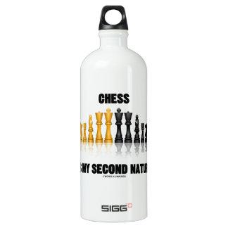 Schach ist meine zweite Natur (reflektierendes Wasserflaschen