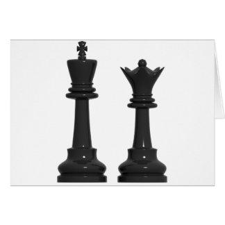 Schach-König-und Königin-humorvolle Karte