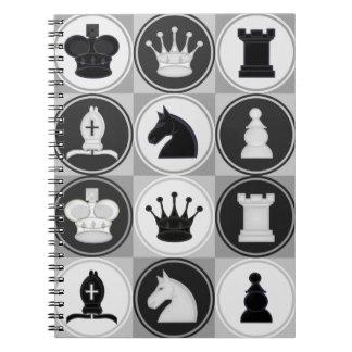 Schach-Muster Spiralblöcke