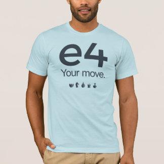 Schach-Shirt: e4 T-Shirt
