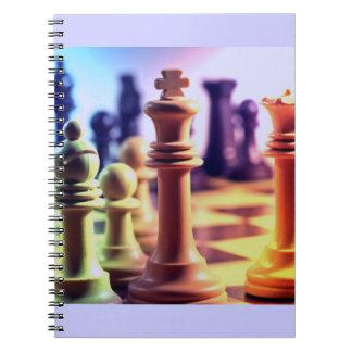 Schach-Spiel-Notizbuch Spiralblöcke