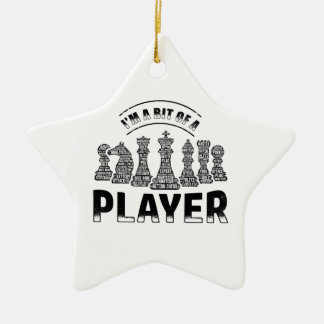 Schach-Spieler Keramik Ornament