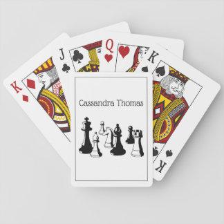 Schach-Stück-Vintage Kunst #2 Spielkarten