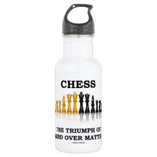 Schach Triumph des Verstandes über Angelegenheit Trinkflasche