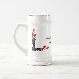 Schach und Rosen-gotische Hochzeit Kaffeetasse