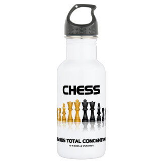 Schach verlangt Gesamtkonzentration (Schach-Set) Trinkflaschen