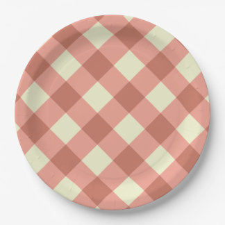 Schachbrett-Brett-Muster Pappteller
