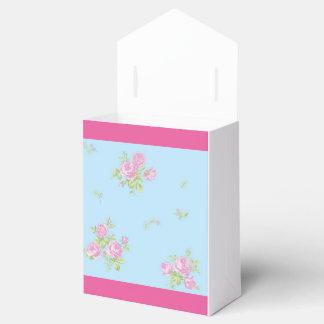 Schachtel rosige und blaues für favors mit Blumen Geschenkschachteln
