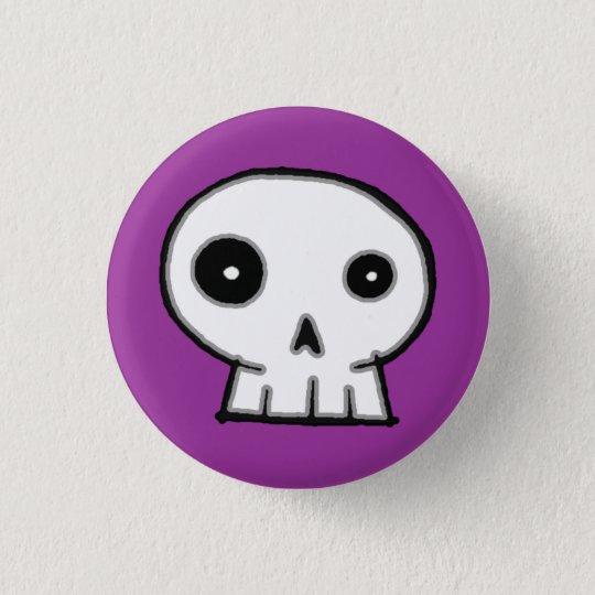 Schädel 9-Purple Runder Button 2,5 Cm