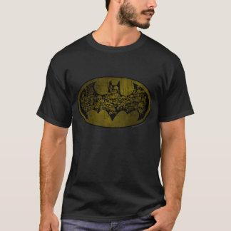 Schädel Batman-Symbol-| im Schläger-Logo T-Shirt